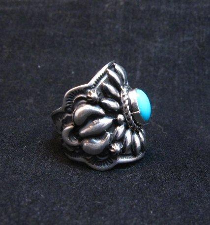 Image 1 of Darryl Becenti Navajo Sleeping Beauty Turquoise Ring sz8