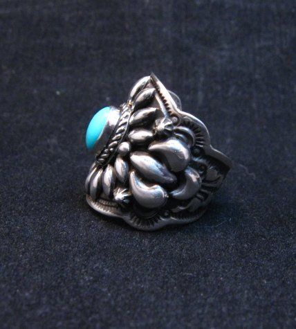 Image 2 of Darryl Becenti Navajo Sleeping Beauty Turquoise Ring sz8
