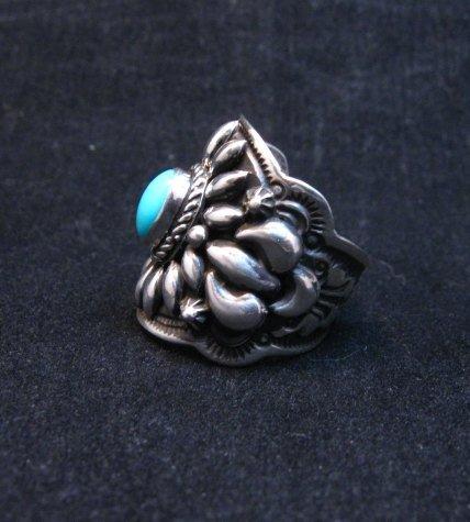 Image 2 of Darryl Becenti Navajo Sleeping Beauty Turquoise Ring sz8