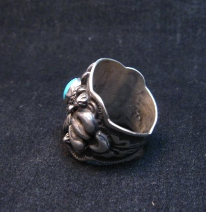 Image 3 of Darryl Becenti Navajo Sleeping Beauty Turquoise Ring sz8