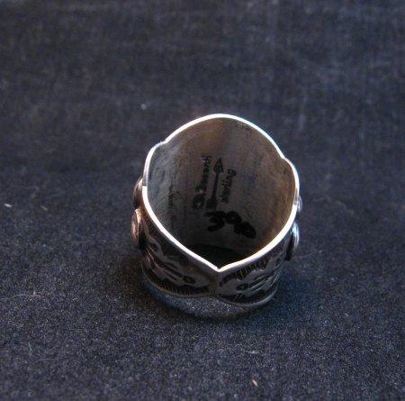 Image 5 of Darryl Becenti Navajo Sleeping Beauty Turquoise Ring sz8