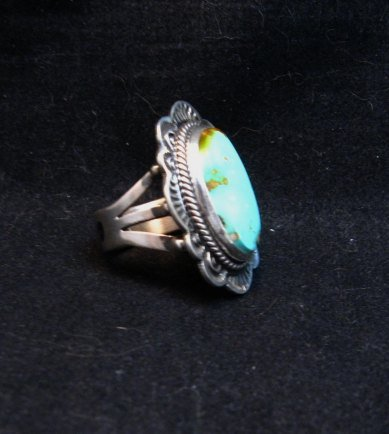 Image 1 of Native American Navajo Royston Turquoise Ring Sz7-1/4