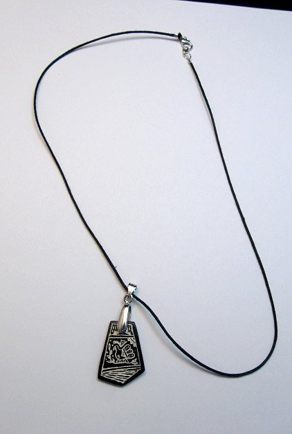 Image 1 of Sharon Miller Acoma Handmade Indian Pottery Pendant - Parrot