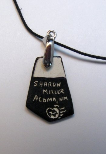 Image 2 of Sharon Miller Acoma Handmade Indian Pottery Pendant - Parrot