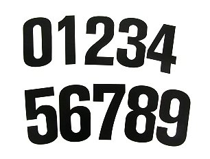 Black Number Set - 10 ea. of (0 - 9)