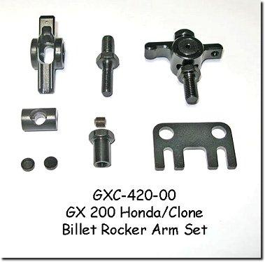 Image 0 of GXC420 Clone / Honda GX200 Billet Steel Rocker Arm Set. 1.3:1 Ratio