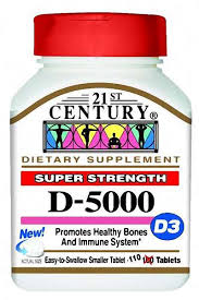 21st Century Vitamin D3 5000 IU 110 Tablets