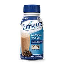 Ensure Coffee Latt� Shake 4X6X8 oz
