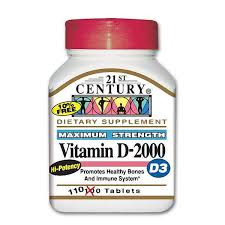 Vit D 2000 IU 2000 Unit Tab 110 By 21st Century Nutritional Prod/Good Neighbor Pharmacy (GNP) Item No.:4081226 NDC No.: 40985027111 UPC No.: 740985271117 Item Description: Vitamin D Other Name:Vit D 2