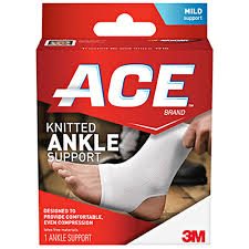 Ace KNITTED ANKLE BRACE MEDIUM BY 3M