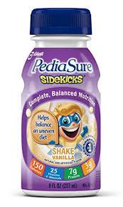 Pediasure Sidekick Bottle Vanila 4X6X8 oz