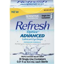 Refresh Optive Advanced Lubricant Eye Drops - 0.33 fl oz bottle