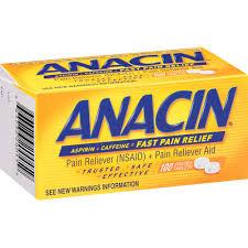 Anacin Tablet 100 Count