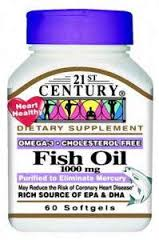 Fish Oil 1000Mg Sftgl 60Ct 21St Century