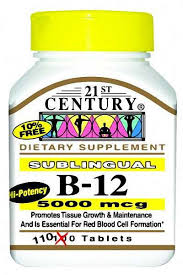 Vit B-12 Subl 5000 mcg Tab 110 By 21st Century Nutritional Prod/Good Neighbor Pharmacy (GNP) Item No.:4189151 NDC No.: 40985027113 UPC No.: 740985271131 Item Description: Vitamin B & Vitamin B Complex