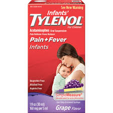 Tylenol Infant Suspension Grape 1 oz By J&J Consumer