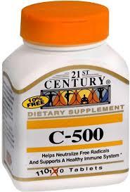 Vit C 500 mg Tab 110 By 21st Century Nutritional Prod/GNP
