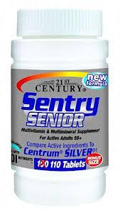 Sentry Senior Multivit Tab 100 Count By 21st Century Vitamins