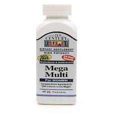 Multivit Mega Women Tablet 90 Count 21st Cen