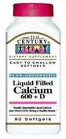 '.CALCIUM +D 600 MG-200 CAP 90 by 21ST CEN.'