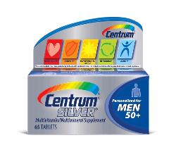 Centrum Silver Multivitamin Supplement Men 50+ Tablets 65 Count