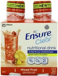 Ensure Clear Mixed Fruit 3X4X10 oz