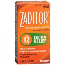 Zaditor Antihistamine Eye Drops - 0.17 Fl oz Bottle