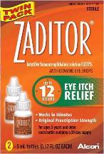 Zaditor Antihistamine Eye Drops Twin Pack - 2 Bottles 0.17 Fl oz Each