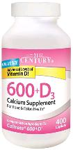Calcium + D3 600 Mg-800 Tab 400 By 21st Century Nutritional Prod/GNP
