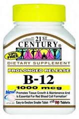 B-12 1000 mcg Tab PROLONGED RELEASE  110 By 21st Century