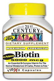 Biotin Caplet 5 mg Cap 110 By 21st Century Nutritional Prod