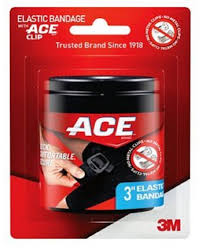 Ace Bandage W/ Clip Black 4