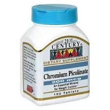 Chromium Picolinate 200 mcg 100 Count By 21st Century Nutritional Prod/GNP
