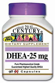 DHEA 25 mg 90 Count By 21st Century