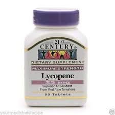 Lycopene 25Mg Max Strength Tab 60Ct By 21St Century Nutritl Prod/Gnp