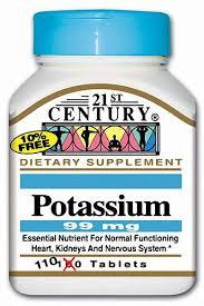 Potassium Gluconate 595Mg Tab 110Ct 21St