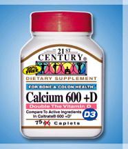 Calcium 600+D3 CAPS  75 By 21st Century Nutritional Prod/GNP