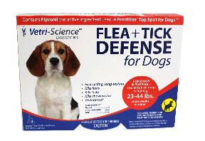 Flea Tick Defense Dog Medium 23-44Lbs 3Ct