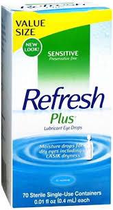 Refresh Plus Lubricant Single-Use Eye Drops - 70 ct, 0.01 fl oz vials