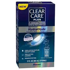 Clear Care Plus Hydraglyde Cleaning & Disinfecting Solution 3 oz .