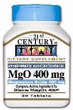 Magnesium Oxide 400mg Tablet 90 Count 21Cent