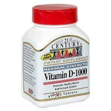 Vit D 1000 Unit Tab 110 By 21st Century Nutritional Prod/GNP