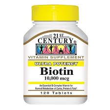 Biotin 10000 120 By 21st Century Nutritional Prod