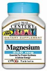 Magnesium 250mg Tablets 110 Count 21st Cent