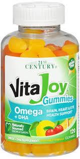 Vitajoy Omega+Dha Gummy 120 Count By 21st Century Nutritional Prod/GNP