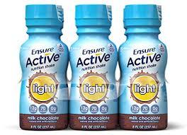 Ensure Active Light Chocolate 4X6X8 oz