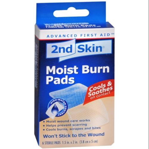 2nd Skin Moist Burn Pad Small 6 Count