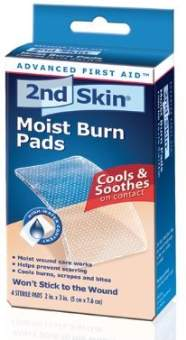 2nd Skin Moist Burn Pad Medium 4 Count