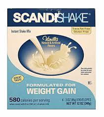 Scandishake Powder Single Vanilla 4X3 oz By Allergan
