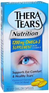 Thera Tears (Theratears) Omega-3, 1200 mg, Easy Swallow Capsules - 90 count